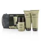 Ahava Travel Essentials For Men Set: Exfoliating Cleansing Gel 100ml + Shaving Cream 100ml + After-Shave Moisturizer 50ml