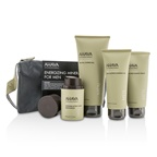Ahava Energizing Minerals For Men Set: Exfoliating Cleansing Gel 100ml + After-Shave Moisturizer 50ml + Shaving Cream 100ml + Mineral Shower Gel 200ml