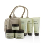 Ahava Hydrating Beauty Case Set: Cleansing Gel 100ml+Mud Mask 100ml+Cream Mask 100ml+Day 50ml+Night 50ml+Eye Cream 15ml+Bag