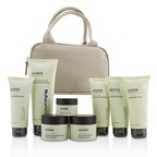 Ahava Essential Beauty Case: Body Exfoliator+Body Lotion+Cleanser+Facial Exfoliator+Mask+Day Cream+Night Cream+Eye Cream+Beige Bag