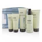 Ahava Deadsea Water Mineral Body Kit: Shower Gel + Body Exfoliator + Body Lotion + Hand Cream + Foot Cream + Blue Bag