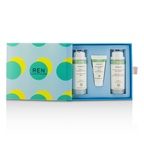 Ren Evercalm Sensitive Skin Kit: 1x Gentle Cleansing Milk 50ml, 1x Anti-Redness Serum 10ml, 1x Global Protection Day Cream 50ml