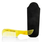 The Art Of Shaving Horn Mustache Comb - Black Suedine