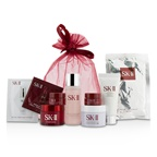 SK II Travel Set: Cleanser 20g +Clear Lotion 30ml + Mask 1pc + Stempower 15g + Deep Surge Ex 15g + R.N.A. Eye Cream 2x2.5g