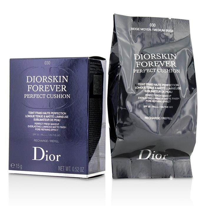 Christian Dior Diorskin Forever Perfect Cushion Spf 35 Refill 030 Medium Beige Makeup
