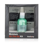 Anthony Moisture On The Go Kit: All Purpose Facial Moisturizer 90ml + Invigorating Rush Hair & Body Wash 100ml + Hand Cream 90ml