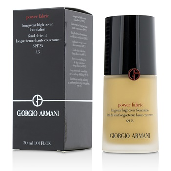 Giorgio Armani Power Fabric Longwear High Cover Foundation SPF 25 - # 4.5 (Light, Golden)