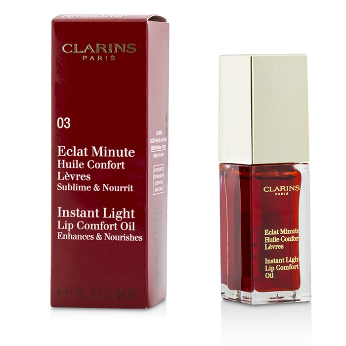 Clarins Eclat Minute Instant Light Lip Comfort Oil - # 03 Red Berry