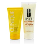 Clinique Summer In Clinique Set: Deep Comfort Body Wash 200ml/6.7oz + After Sun Rescue Balm 150ml/5oz