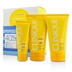 Clinique Summer In Clinique Coffret: Face Cream SPF 40 50ml+ Face/Body Cream SPF 15 150ml + After Sun Rescue Balm With Aloe 150ml