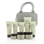 Ahava Essential Beauty Case: Body Exfoliator+Body Lotion+Cleanser+Facial Exfoliator+Mask+Day Cream+Night Cream+Eye Cream+Gray Bag