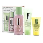 Clinique 3-Step Skincare System (Skin Type 3): Liquid Facial Soap Oily Skin Formula 50ml + Clarifying Lotion 3 100ml + DDMG 30ml