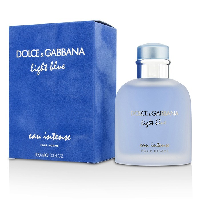 NEW Dolce   Gabbana Light Blue Eau Intense Pour Homme EDP Spray ... ea28a6b30172