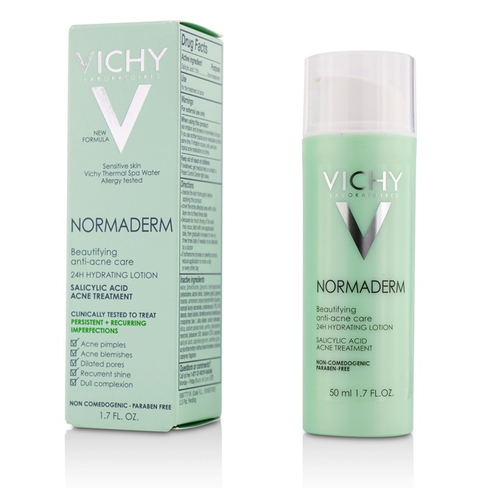 Vichy Normaderm Beautifying Anti-Acne Care - 24H Hydrating Lotion Salicylic Acid Acne Treatment