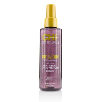 CHI Deep Brilliance Olive & Monoi Shine Serum Light Weight Leave-In Treatment