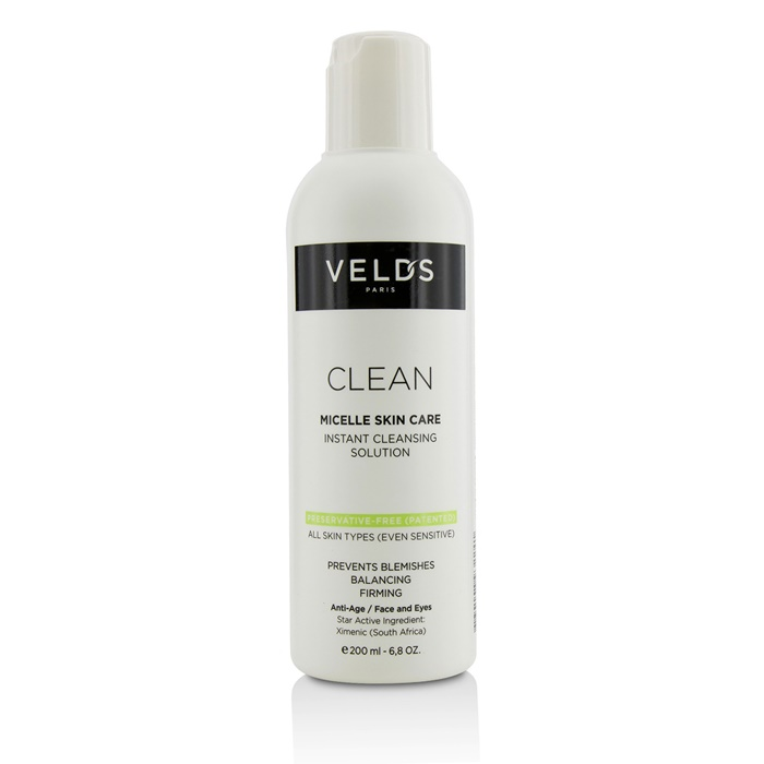 Veld's Clean Micelle Skincare Instant Cleansing Solution - All Skin Types (Even Sensitive)