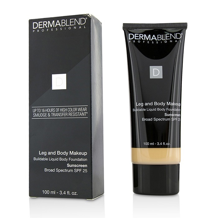 Dermablend Leg and Body Makeup Buildable Liquid Body Foundation Sunscreen Broad Spectrum SPF 25 - #Fair Ivory 10N