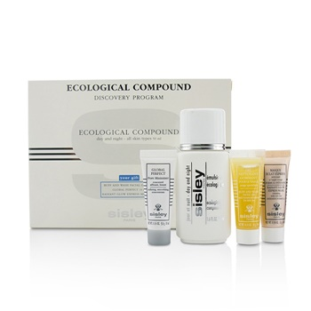 Sisley Ecological Compound Discovery Program: Ecological Compound 50ml, Buff  & Wash Facial Gel 10ml, Global Perfect 10ml, Radian...