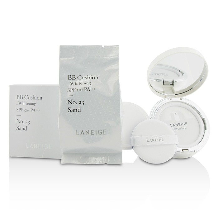 Laneige BB Cushion Foundation (Whitening) SPF 50 With Extra Refill - # No. 23 Sand