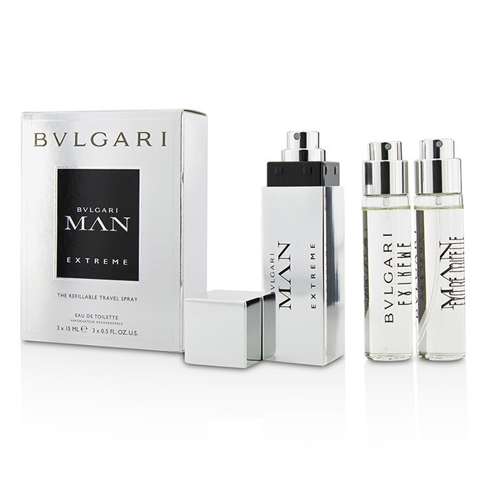 NEW Bvlgari Man Extreme The Refillable EDT Travel Spray 0.5oz Mens ... 135fe0fd42
