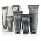 Clinique Custom-Fit Daily Hydration Set: Charcoal Face Wash 50ml/1.7oz + Cream Shave 60ml/2oz + Moisturizing Lotion 100ml/3.4oz