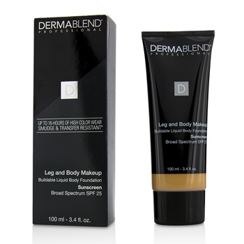Dermablend Leg and Body Makeup Buildable Liquid Body Foundation Sunscreen Broad Spectrum SPF 25 - #Light Beige 35C