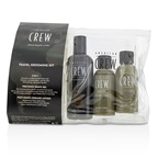 American Crew Travel Grooming Kit: Men Classic 3-IN-1 Shampoo, Conditioner & Body Wash 100ml + Precision Shave Gel 50ml + Post Shaving Cooling Lotion 50ml