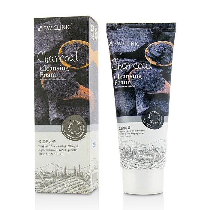 3W Clinic Cleansing Foam - Charcoal - 100ml/3.38oz Progressif Lift Fermete Genesis Of Youth For Hands SPF 15 1.7oz