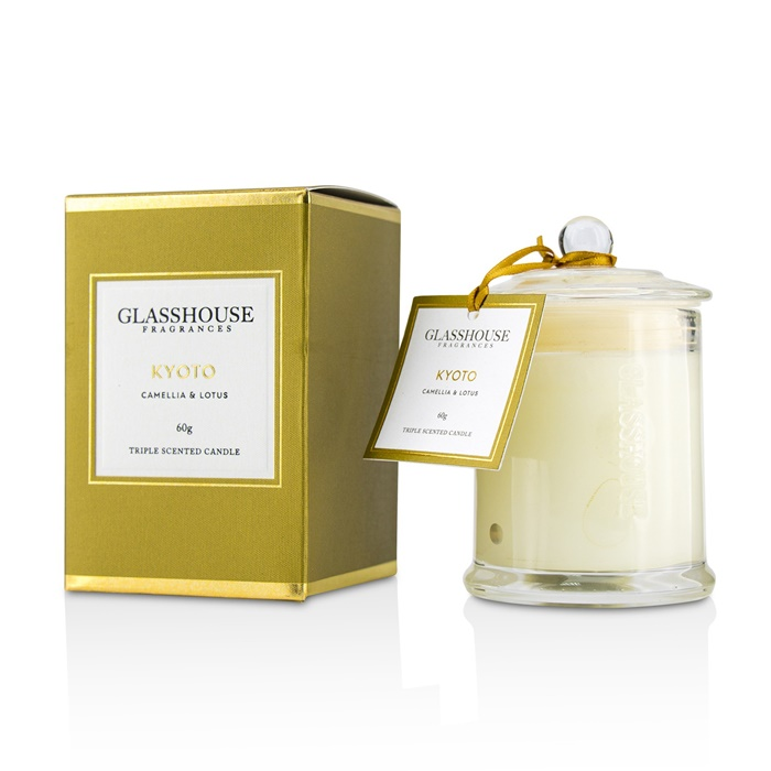 Glasshouse Triple Scented Candle - Kyoto (Camellia & Lotus)