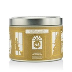 The Candle Company Tin Can 100% Beeswax Candle with Wooden Wick - Christmas Magic (Amber, Saffron & Patchouli)
