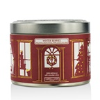 The Candle Company Tin Can 100% Beeswax Candle with Wooden Wick - Winter Berries (Redcurrants, Blackcurrants, Violets & Lily Of The Valley)