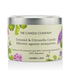 The Candle Company Tin Can 100% Beeswax Candle with Wooden Wick - Geraniol & Citronella