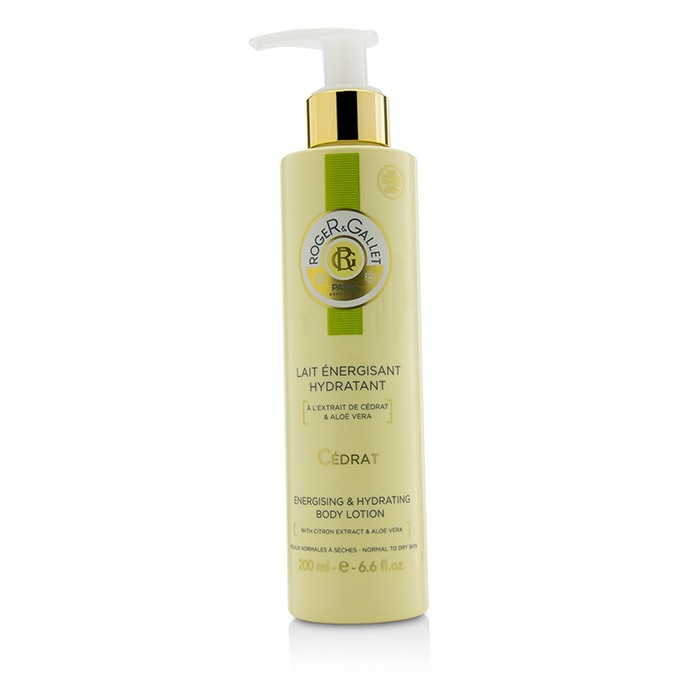 Roger & Gallet Cedrat (Citron) Energising & Hydrating Body Lotion (with Pump)