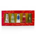 L'Occitane Hand Cream Collection Set: Cherry Blossom + Almond + Shea Butter + Rose + Verveine (Verbena)