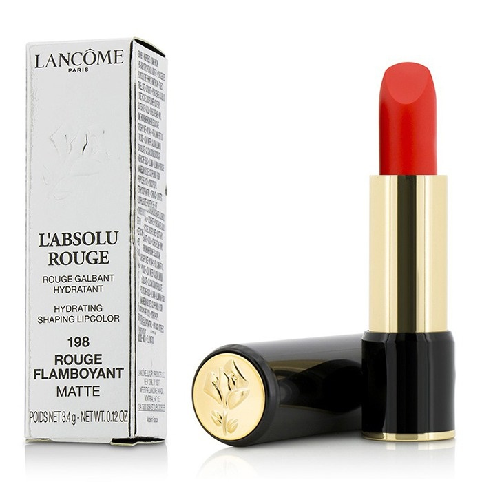 Lancome L' Absolu Rouge Hydrating Shaping Lipcolor - # 198 Rouge Flamboyant (Matte)