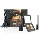 Youngblood Eye Trio Clutch Set (1x Eyeshadow Quad, 1x Eye Liner Pencil, 1x Mascara)