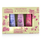 Crabtree & Evelyn Florals Hand Therapy Set (1x Pear & Pink Magnolia, 1x Rosewater, 1x Lavender)