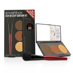 Smashbox Step By Step Contour Kit (1 x Contour Palette + 1 x Contour Brush) -Deep (Medium/Dark) 45996
