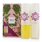 Ren Rose To The World Moroccan Rose Otto Set: Body Wash 200ml + Body Lotion 200ml