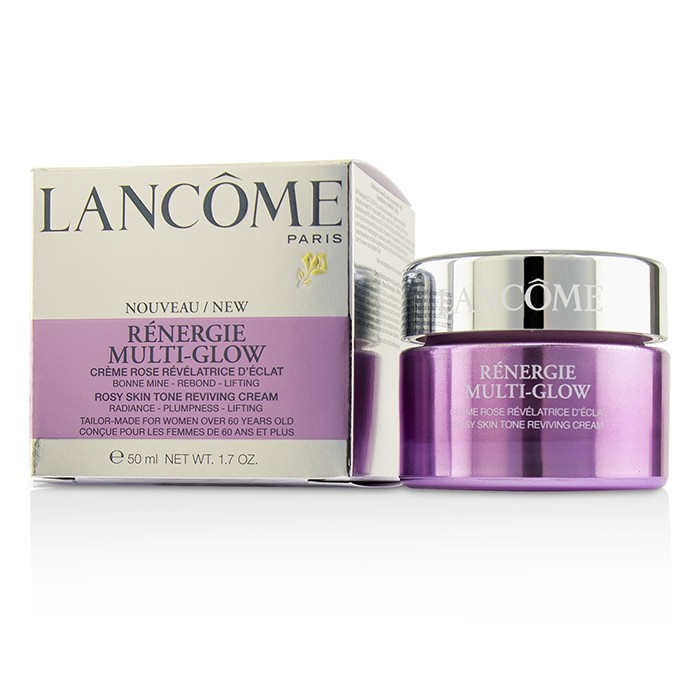 Lancome Renergie Multi-Glow Rosy Skin Tone Reviving Cream  50ml/1.7oz Black Radiance Limited Edition Argan Oil Tinted Balm - 5215 Catwalk Pink