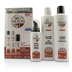 Nioxin 3D Care System Kit 4 - For Colored Hair, Progressed Thinning, Balanced Moisture (Box Slightly Damage