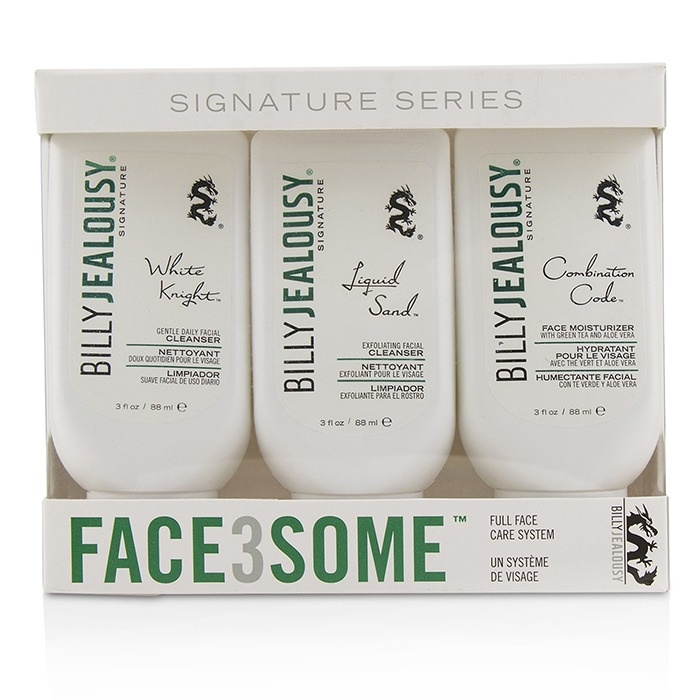 Billy Jealousy Face3Some Kit: Face Moisturizer 88ml + Exfoliating Facial Cleanser 88ml + Gentle Daily Facial Cleanser 88ml