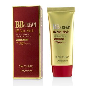 3W Clinic UV Sun Block BB Cream SPF50+ PA+++