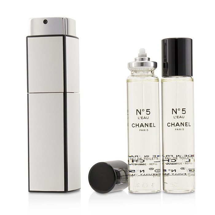 Chanel No.5 L'Eau EDT Purse Spray And 2 Refills