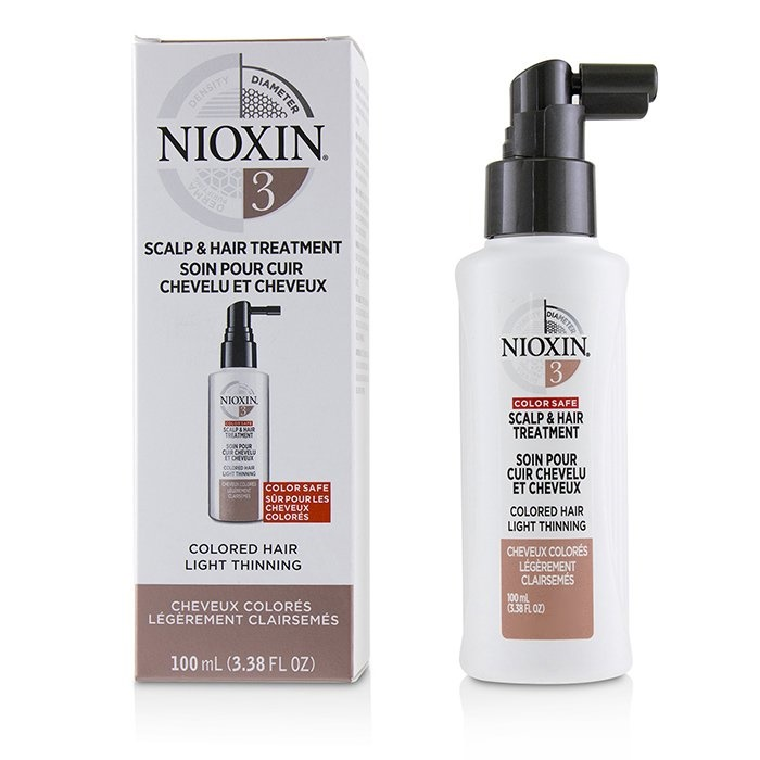 Nioxin Diameter System 3 Scalp & Hair Treatment (Colored Hair, Light Thinning, Color Safe)