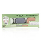 L'Oreal Multi-Masking Mini Kit:  Exfoliate & Refine Pores Clay Mask, Detoxifies & Clarifies Clay Mask & Purify & Mattify Clay Mask