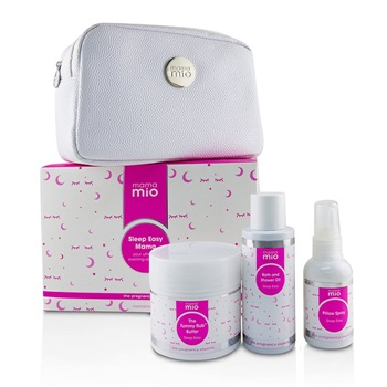 Mama Mio Sleep Easy Mama Kit: The Tummy Rub Butter  - 120g/4.1oz + Bath & Shower Oil 100ml/3.4oz + Pillow Spray 53ml/1.8oz + 1bag