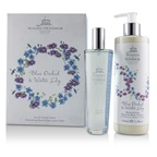 Woods Of Windsor Blue Orchid & Water Lily Coffret: EDT Spray 100ml/3.3oz + Moisturising Hand & Body Lotion 350ml/11.8oz