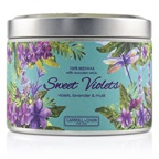 The Candle Company Tin Can 100% Beeswax Candle with Wooden Wick - Sweet Violets