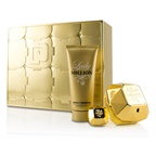 Paco Rabanne Lady Million Coffret: EDP Spray 80ml/2.7oz + EDP Splash 5ml/0.17oz + Sensual Body Lotion 100ml/3.4oz
